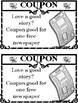 Teacher's week or Secretary's Week Coupon book