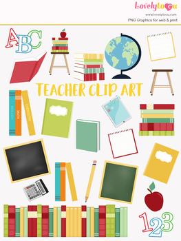 Teacher school symbols clipart, student clipart (LC02)