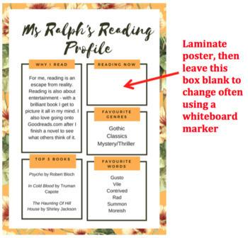 Teacher/student reading profile