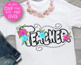 Teacher svg Back to School Svg Teacher shirt design svg