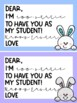 Teacher to Student Easter Cards - Bunny Theme