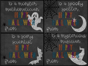 Teacher to Student Halloween Cards