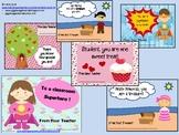 Teacher to Student Valentine Cards - 5 designs pirate superhero love tree