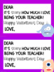 Teacher to Student Valentine's Day Cards - Monster Theme