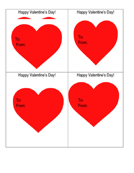 Teacher to Students: Valentine's Card