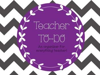 """Teacher """"to-do"""" Sheet - Planning"""