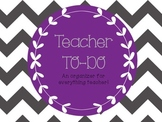 "Teacher ""to-do"" Sheet - Planning"
