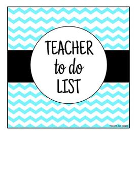 Teacher To Do Checklist