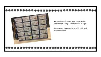 Teacher tool box labels - Australian version