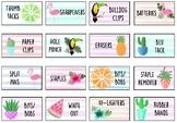 Teacher toolbox labels- Tropical