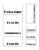Teacher toolbox labels (editable)