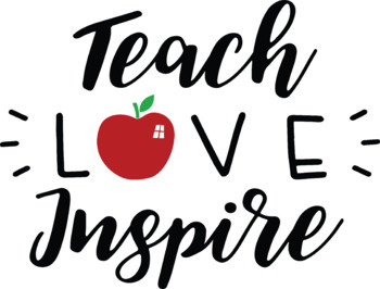 Teach Love Inspire SVG - Teacher svg - Teach svg - School Svg