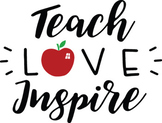 Teach Love Inspire SVG - Teacher svg - Teach svg - School Svg