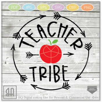 Teacher tribe SVG - Teacher svg - Teach svg - School Svg - teacher gift