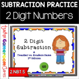 Teacher vs. Student - 2 Digit Subtraction PPT Game