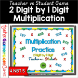Teacher vs. Student - 2 Digit by 1 Digit Multiplication Powerpoint Game