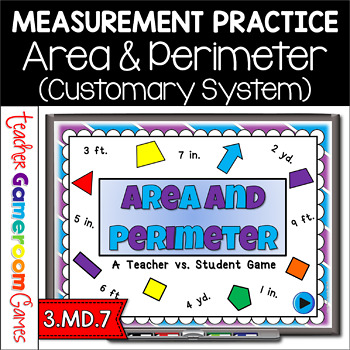 Teacher vs. Student - Area &  Perimeter PPT Game