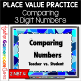 Teacher vs. Student - Comparing Numbers - 2.NBT.4
