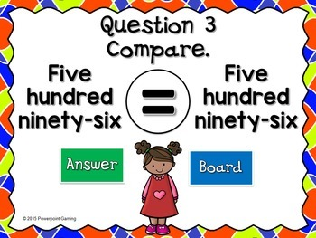 Teacher vs. Student - Comparing Numbers in Different Form PPT Game