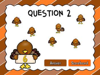 Teacher vs. Student - Counting Turkeys Powerpoint Game