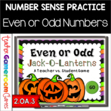 Halloween Even or Odd Jack-O-Lantern Powerpoint Game