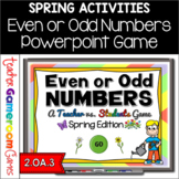 Even or Odd Numbers Spring Powerpoint Game