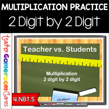 Teacher vs. Student - Multiplication (2 by 2) - Powerpoint Game