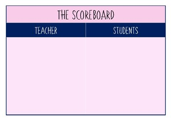 Teacher vs. Student Scoreboard for Whole Brain Teaching