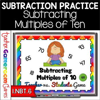 Teacher vs. Student - Subtracting Multiples of 10 PPT Game