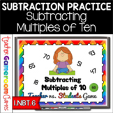 Teacher vs. Student - Subtracting Multiples of 10 PPT Game