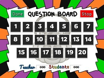 Teacher vs. Student - Trick or Treat Counting Powerpoint Game