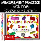 Teacher vs. Student - Volume Review PPT Game