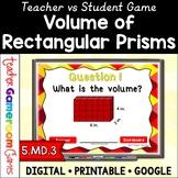Volume of Rectangular Prisms Powerpoint Game