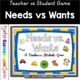 Teacher vs. Students - Needs vs. Wants Powerpoint Game  Di