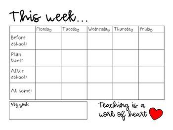 Teacher week to do PRINTABLE
