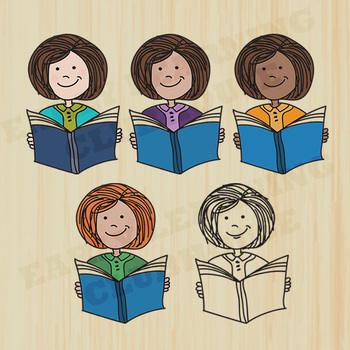 Teacher with a Book - Clip Art - Vector Art