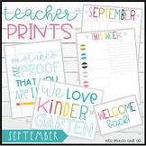 Teacher PRINTS September {teacher stationary and printables}