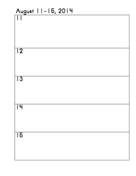 Teacher/Student Agenda and Planner- Blue & Yellow