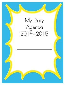 Teacher/Student Agenda and Planner- Blue & Yellow