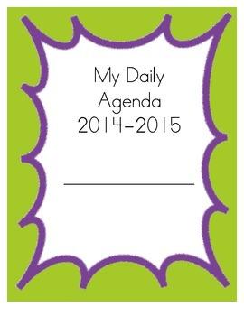 Teacher/Student Agenda and Planner- Green & Purple