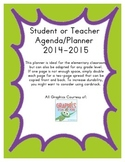 Teacher/Student Agenda and Planner- Green & Purple