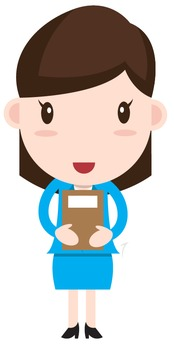 Teacher(or Student) Clipart Woman Character