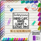 Teacherpreneur Mockup Creator | Movable Elements | Clips | Pins
