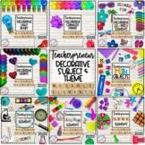 Teacherpreneur Mockup Decorative Elements BUNDLE | School