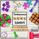 Teacherpreneur Mockup Subject Elements | Game Pieces