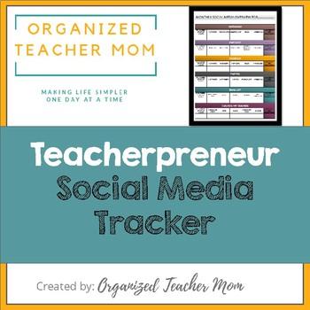 Teacherpreneur Social Media Tracker