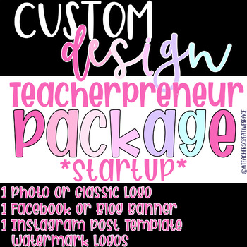 Teacherpreneur Startup Package | Logo Custom Design | Instagram/Tpt Logo
