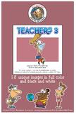 Teachers 3 Cartoon Clipart