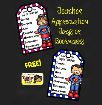 FREE Teacher Appreciation Tags