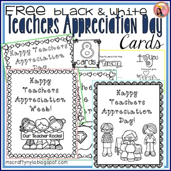 Teachers Appreciation Week Cards